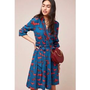 Anthropologie Colloquial Long-Sleeved Shirtdress